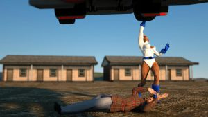 Powergirl lifts truck 7 by DahriAlGhul