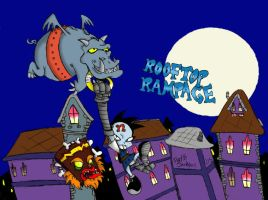 Rooftop Rampage by dustindemon