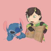 Loki  And Stitch by Hiruko-Imagination
