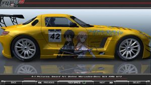 Sword Art Online Mercedes SLS AMG GT3 Itasha_01 by FAT8893