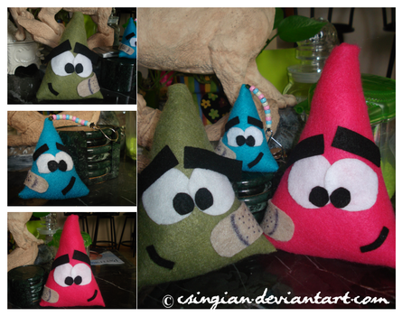 Coneheads Plushies by csingian