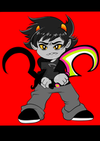 Karkat AND WEAPONS by TaPloAlBoReMiXxz