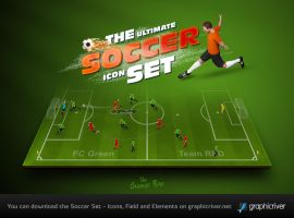 The Soccer Set - Kicker Icons, Field and Elements by templay-team