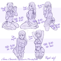 YCH: Pretty Outfits Auction - CLOSED by MaryLittleRose