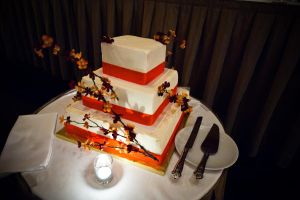 autumn wedding cake by nlpassions