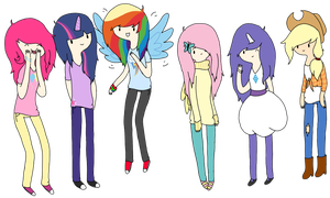 Mane Six by skatergirl8888