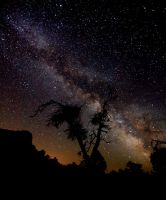 Milky Way over Craters by Iamidaho