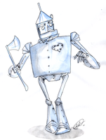 Tin Woodman by DemonCartoonist