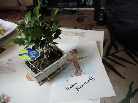 Baby Groot B.day Gift by eskici