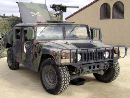 Hummer with machine gun by Partywave