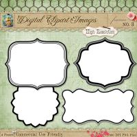 Journal Tags - Label Frames 3 by starsunflowerstudio