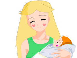 Star holding baby Sally by ElMarcosLuckydel96