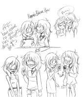 Ryou x Namine doodles by PianoxLullaby