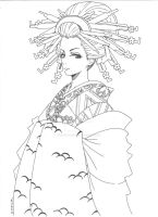 Oiran-Outline by 23-tiny-wishes