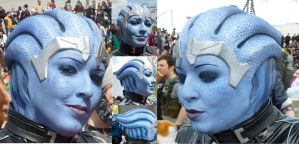 Liara T'Soni mass Effect3- Headpiece paint by Sakara-Siluria