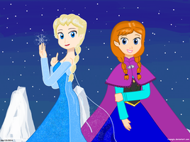 Frozen princesses by Isaangie