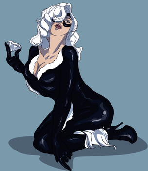 Commission: Black Cat by Auburna