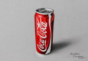 Coca Cola Can - Drawing by Anubhavg