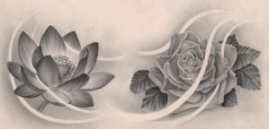 Lotus and Rose by Milsch666
