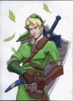 Link sketch with a little color by ChevronLowery