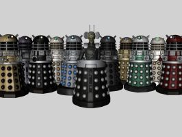 Davros and the Daleks by FusionParadox