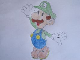 Paper Luigi by Wilfre-colour