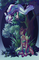 Silas and Lae for Diana by myshrinkingviolet