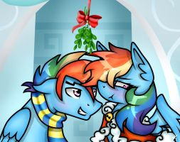 MLP ''You can't say no, you're under mistletoe'' by KikiRDCZ