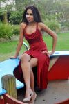 Nikki K - red dress seated 1 by wildplaces
