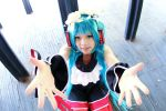 Two Breaths Walking Hatsune Miku Cosplay:Hugs!?^_^ by SakuraLeehime