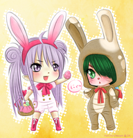 Easter Bunnies by RanChu-Obscure