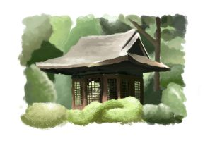 Shinto shrine by Blistas