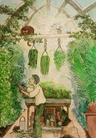The gardener in the greenhouse by KiDa90