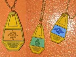 Digimon tag and crest necklace example 1 by kouweechi