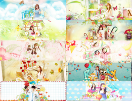 [FREE PSD] [LES COMEBACK] [ PART 1] HELLO SUMMER by yenlonloilop7c
