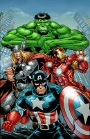Avengers color by HillmanArts