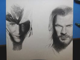 loki and thor by catw10053237