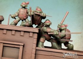 TMNT issue 1 tribute! ver2 by GrizzlyJake