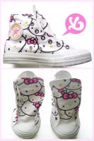 Hello Kitty Converse by Viagraphics