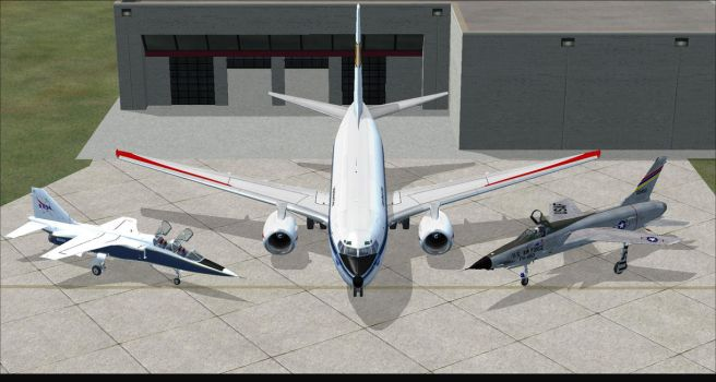 Indeepschit, Me and Ace117 in FSX by GeneralTate