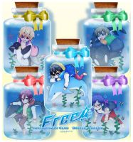 Free! Bottle Charms set by SoloAzume