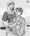 Alura and Thafi by Shabazik