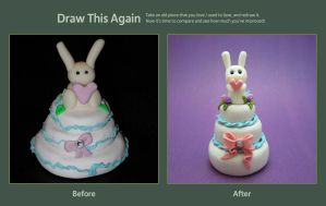 Draw This Again: Bunny Cake by SmallCreationsByMel