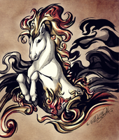 -Fire Horse Evolution- by WhiteSpiritWolf