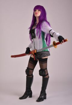 Saeko Busujima Cosplay - I'm Back! by Abyzou-Crimson