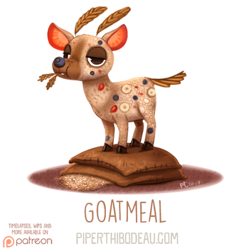Daily Paint 1628. Goatmeal by Cryptid-Creations