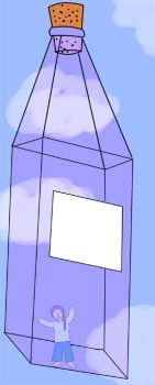 Meesh in a Bottle wit Color by flowerwiththorns