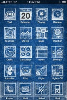 iPhone theme: Blueprint by sometoast
