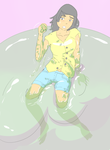 Girl Meets Blob by Silkyfriction
