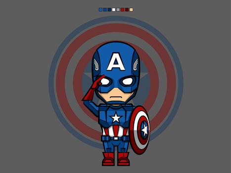 #1 Captain America | Avengers Vector by rousanilmy